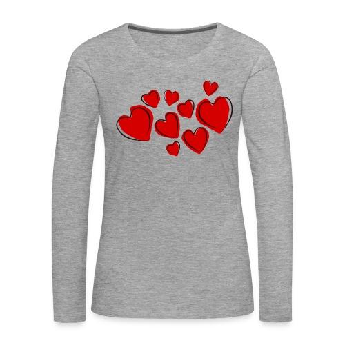 hearts herzen - Frauen Premium Langarmshirt