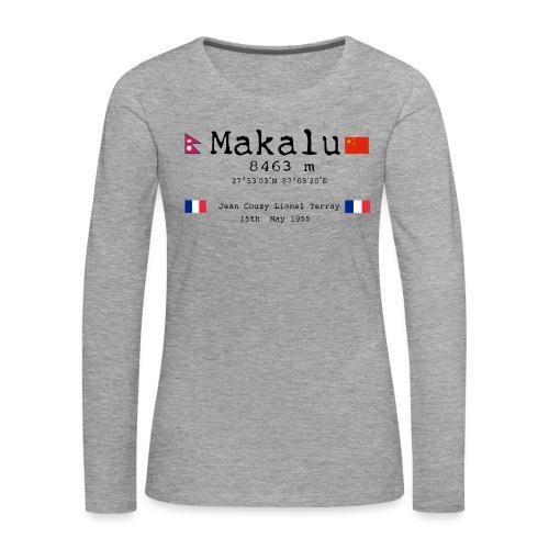 Makalublack - Maglietta Premium a manica lunga da donna