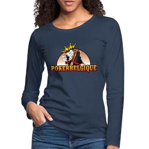 Logo Poker Belgique - T-shirt manches longues Premium Femme