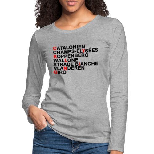 CYKLING - Dame premium T-shirt med lange ærmer