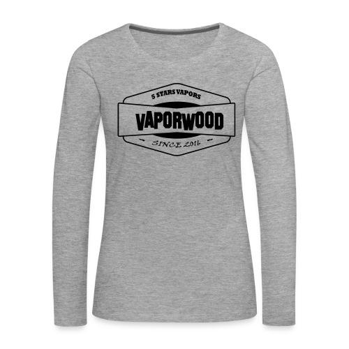 VaporwoodLogo - Frauen Premium Langarmshirt
