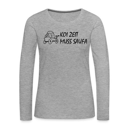 KoiZeit Saufa - Frauen Premium Langarmshirt