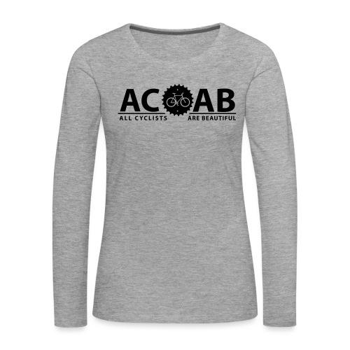 ACAB ALL CYCLISTS - Frauen Premium Langarmshirt