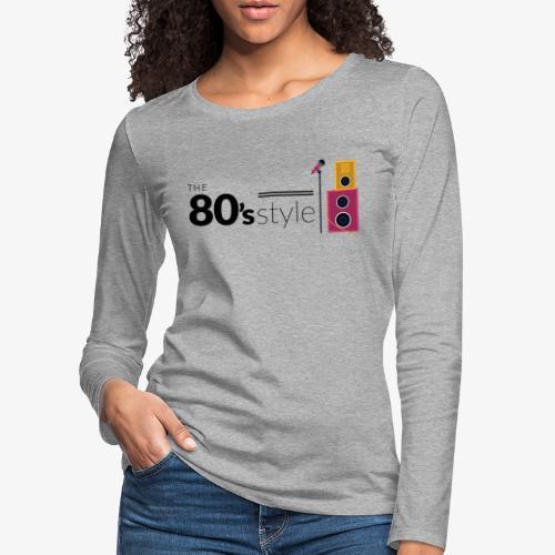 80s - Camiseta de manga larga premium mujer