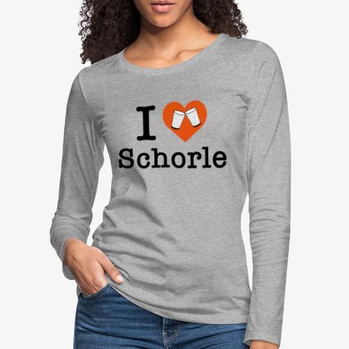 I love Schorle – Dubbeglas - Frauen Premium Langarmshirt