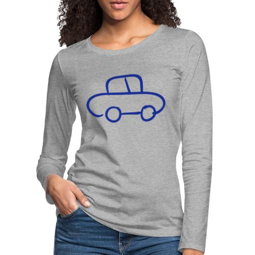 Van Line Drawing Pixellamb - Frauen Premium Langarmshirt