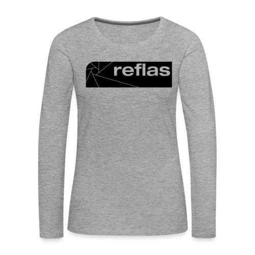 Reflas Clothing Black/Gray - Maglietta Premium a manica lunga da donna