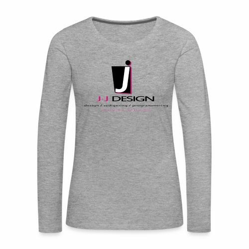 LOGO_J-J_DESIGN_FULL_for_ - Dame premium T-shirt med lange ærmer