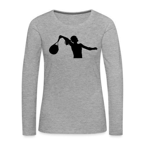 tennis silouhette 6 - T-shirt manches longues Premium Femme