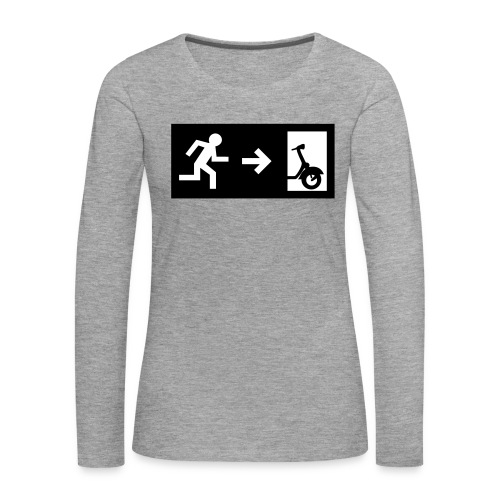 notaufgang - Frauen Premium Langarmshirt