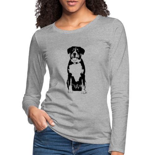 Entlebucher Sennenhund Hunde Design Geschenkidee - Frauen Premium Langarmshirt