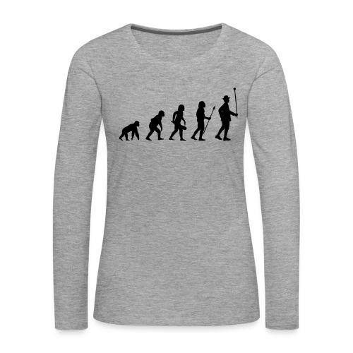 Stabführer Evolution - Frauen Premium Langarmshirt