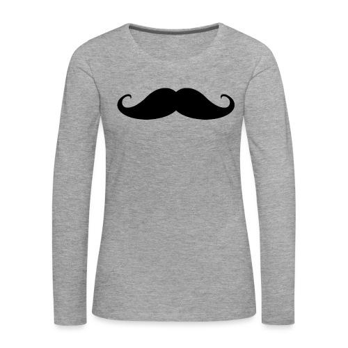 BIGODE_1-png - Camiseta de manga larga premium mujer