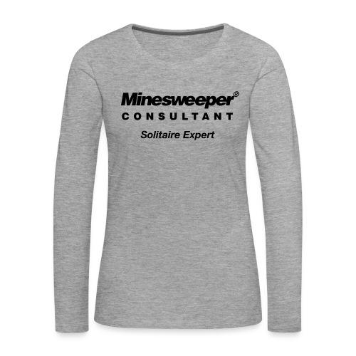 minesweeper - Frauen Premium Langarmshirt