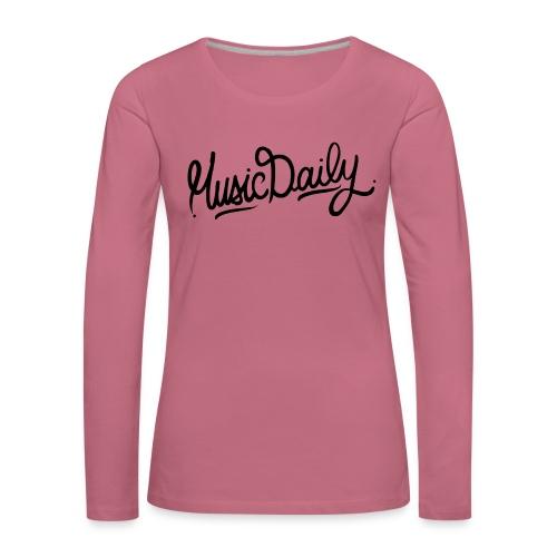MusicDaily Logo - Vrouwen Premium shirt met lange mouwen
