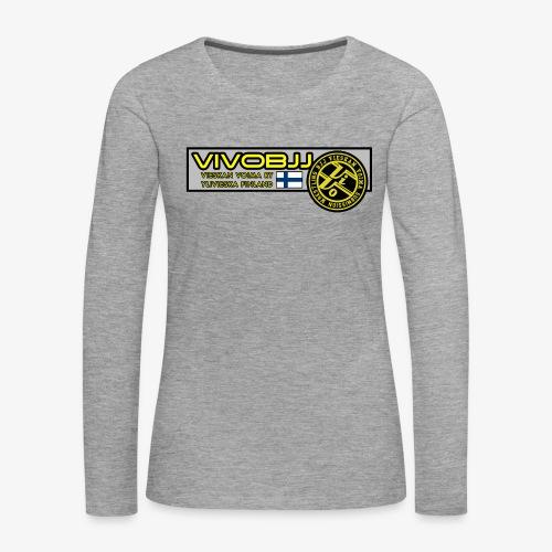 ViVoBJJ Patch - Naisten premium pitkähihainen t-paita