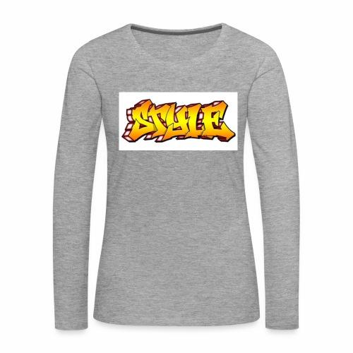Camiseta estilo - Camiseta de manga larga premium mujer