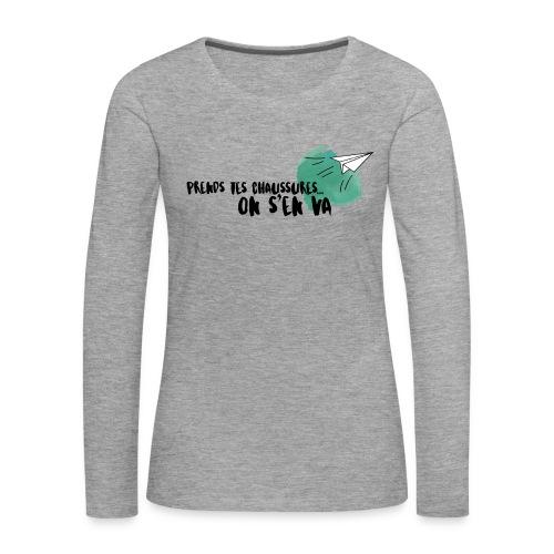 test - T-shirt manches longues Premium Femme