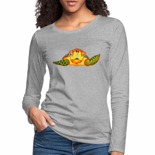 Boze Turtle Fluo - Vrouwen Premium shirt met lange mouwen