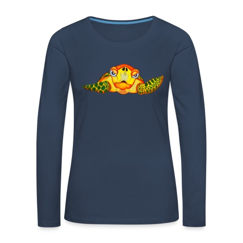 Angry Turtle Fluo - T-shirt manches longues Premium Femme