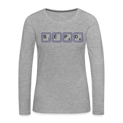 bépo - T-shirt manches longues Premium Femme