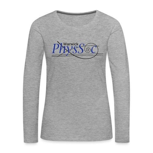 Official Warwick PhysSoc T Shirt - Women's Premium Longsleeve Shirt