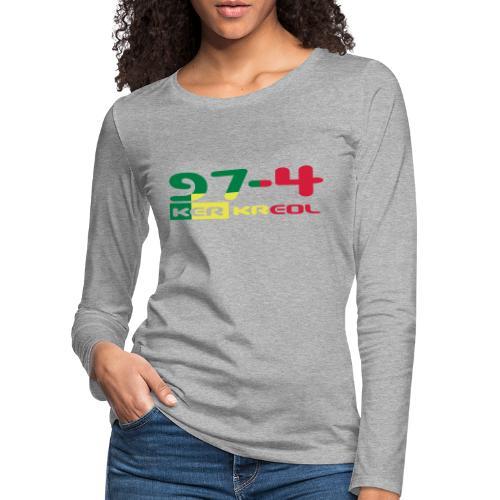 Logo 974 ker kreol VJR, rastafari - T-shirt manches longues Premium Femme