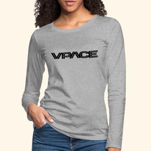 VPACE black - Frauen Premium Langarmshirt