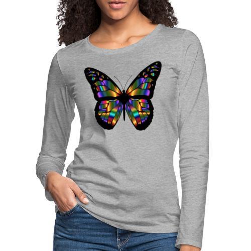 papillon design - T-shirt manches longues Premium Femme