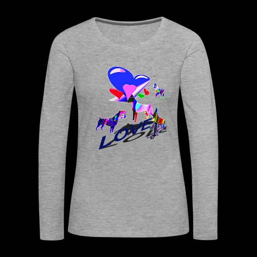 look at these dogs love - T-shirt manches longues Premium Femme
