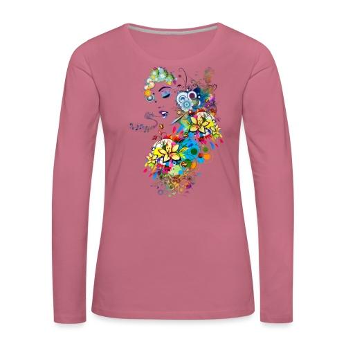 Lady singer - T-shirt manches longues Premium Femme