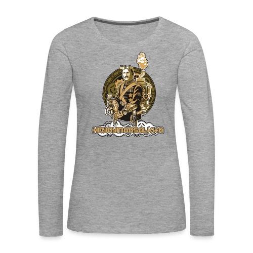 Höyrymarsalkan upea naisten T-paita - Naisten premium pitkähihainen t-paita