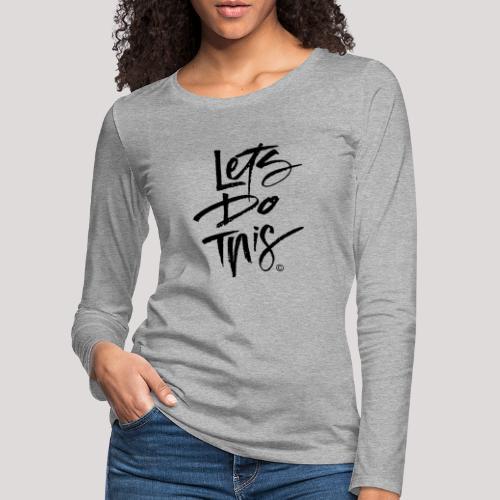 LDT Clear MASTER BLK - Women's Premium Longsleeve Shirt