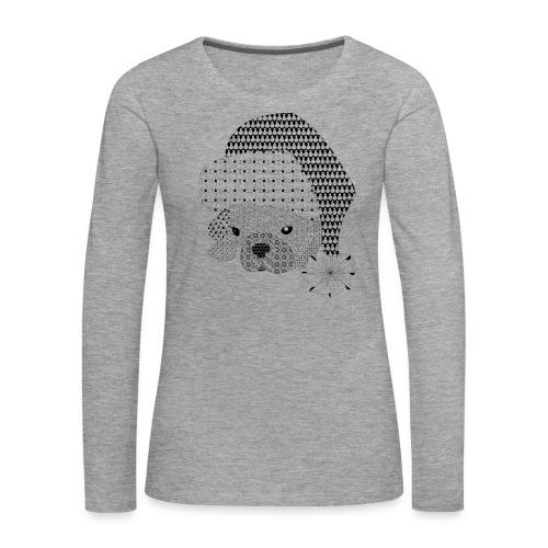 Christmas bulldog pattern - Vrouwen Premium shirt met lange mouwen