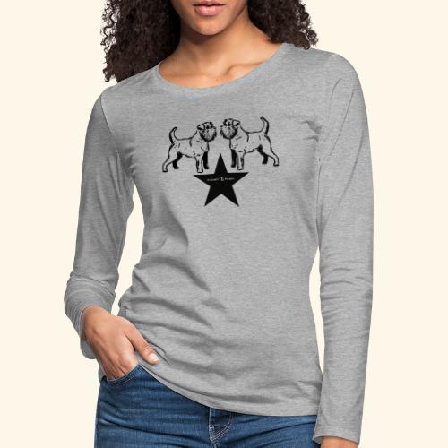 Brussels Griffon Logo - T-shirt manches longues Premium Femme