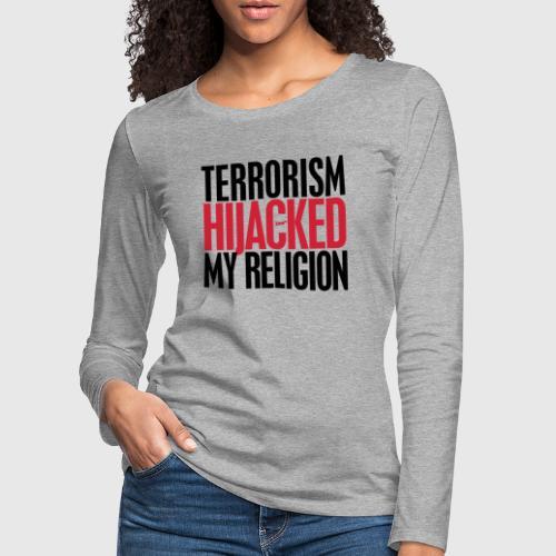 TERROISM png - Dame premium T-shirt med lange ærmer