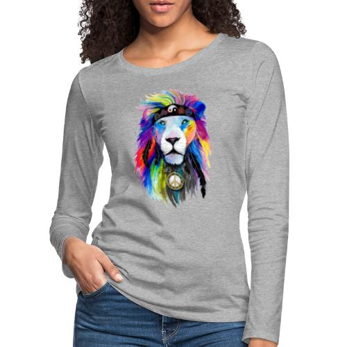 León hippie - Camiseta de manga larga premium mujer