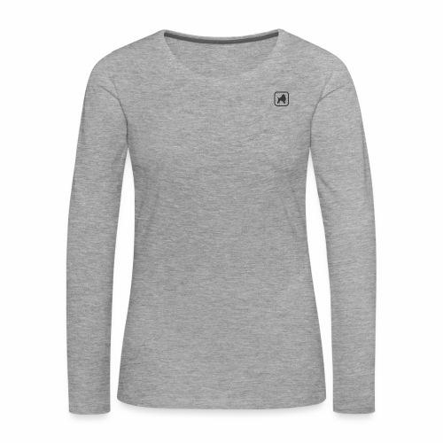 Favicon schwarz - Frauen Premium Langarmshirt