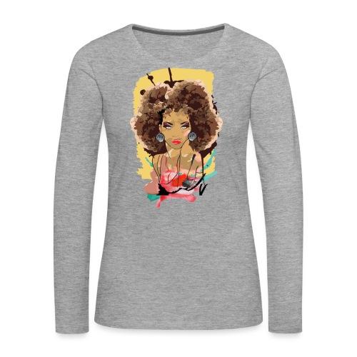 Afro Sass - Women's Premium Longsleeve Shirt