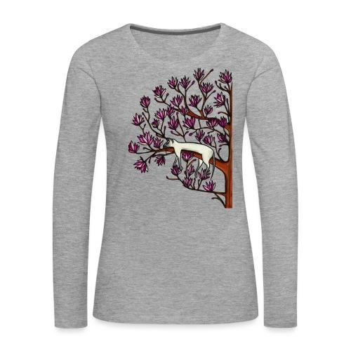 Magnolia - Långärmad premium-T-shirt dam