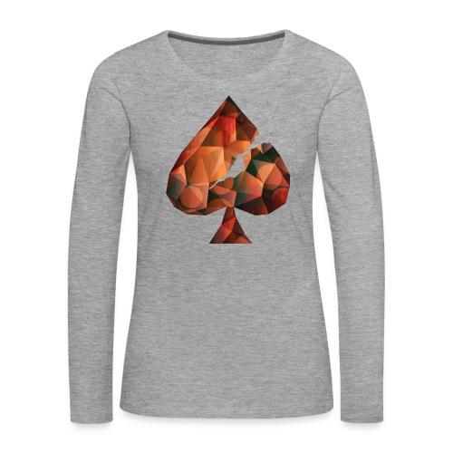 Crystal Spades - Frauen Premium Langarmshirt
