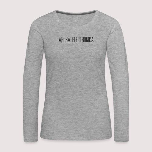 Schrift Schwarz - Frauen Premium Langarmshirt