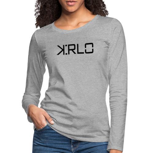 Kirlo Logotipo Negro - Camiseta de manga larga premium mujer