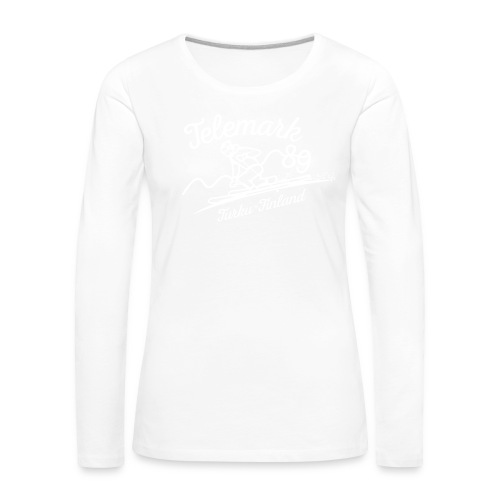Telemark89 logo A5 - Naisten premium pitkähihainen t-paita