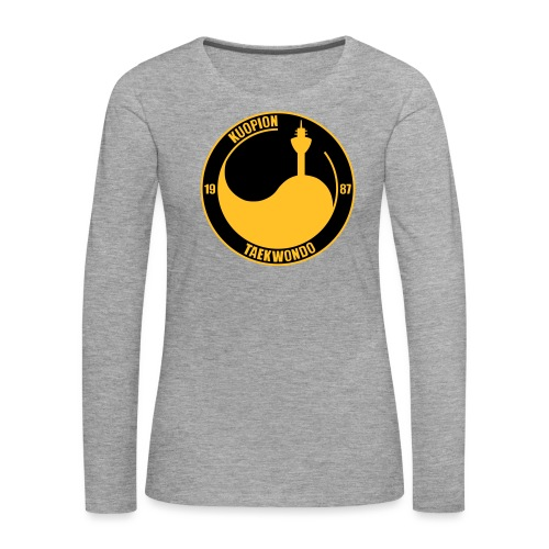 kuo tkd logo2017 brodeera - Naisten premium pitkähihainen t-paita