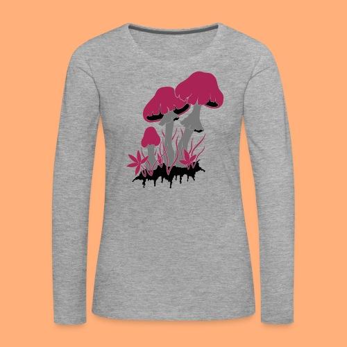 champignons - T-shirt manches longues Premium Femme
