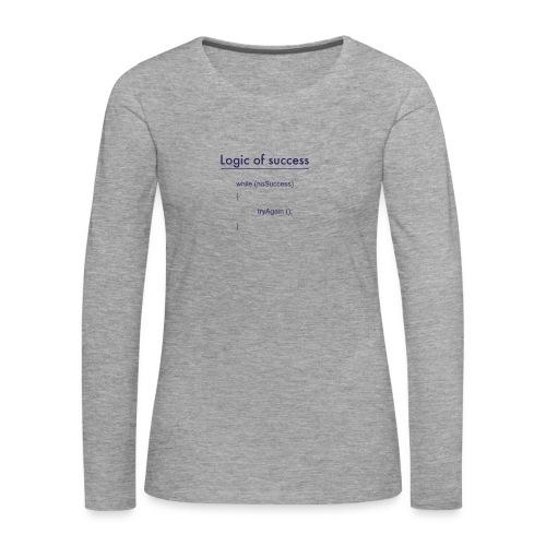 success - Frauen Premium Langarmshirt
