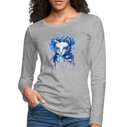 Gatito adorable - Camiseta de manga larga premium mujer