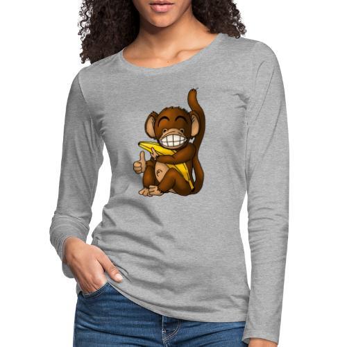 Super Fröhlicher Affe - Frauen Premium Langarmshirt