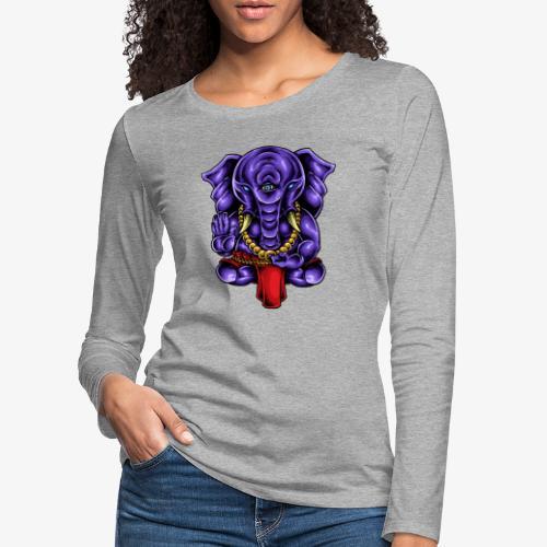 Gaṇesh - T-shirt manches longues Premium Femme